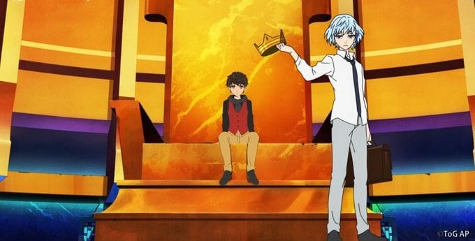 Khun gives the crown to Bam in Tower of God Episode 4