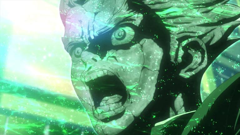 Taiju getting petrified in Dr. Stone