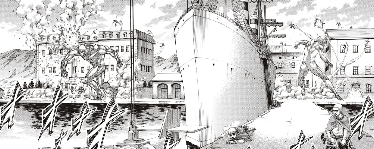 Reiner and Annie fight against the Yeagerists in Attack on TItan chapter 129