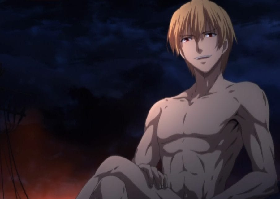 Gilgamesh after surviving the disaster in Fate:Zero