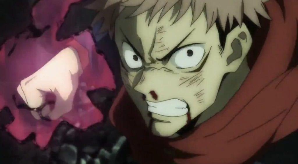 Yuuji itadori cursed energy aura