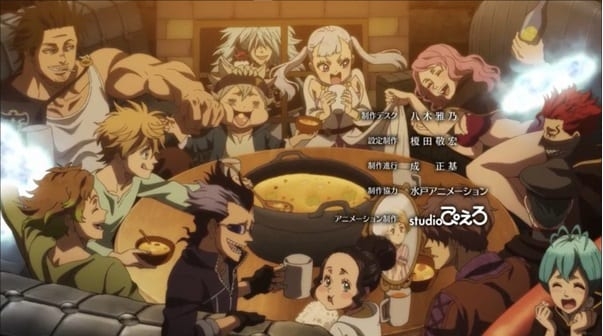 The Black Bulls celebrate one year of Asta and Noelle joining the squad