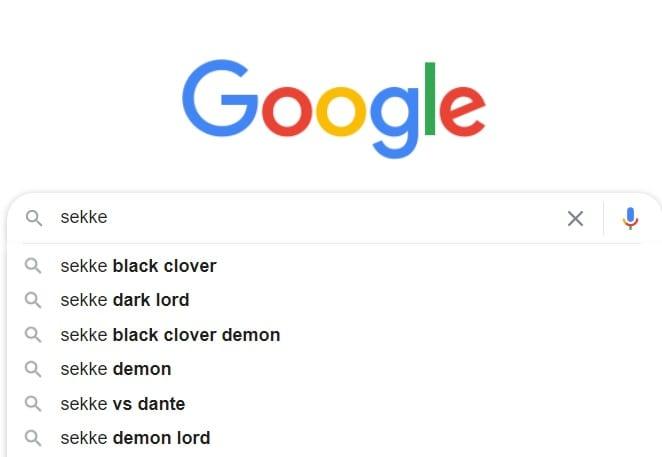 Sekke on Google Search