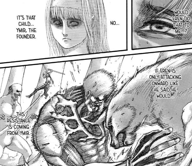 Armin thinks Ymir is controlling titans