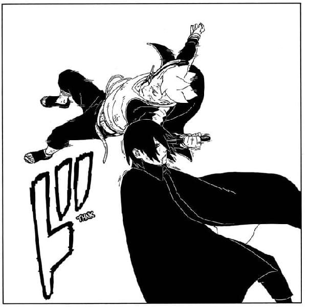 Borushiki ambushes Sasuke and stabs him in the eye.