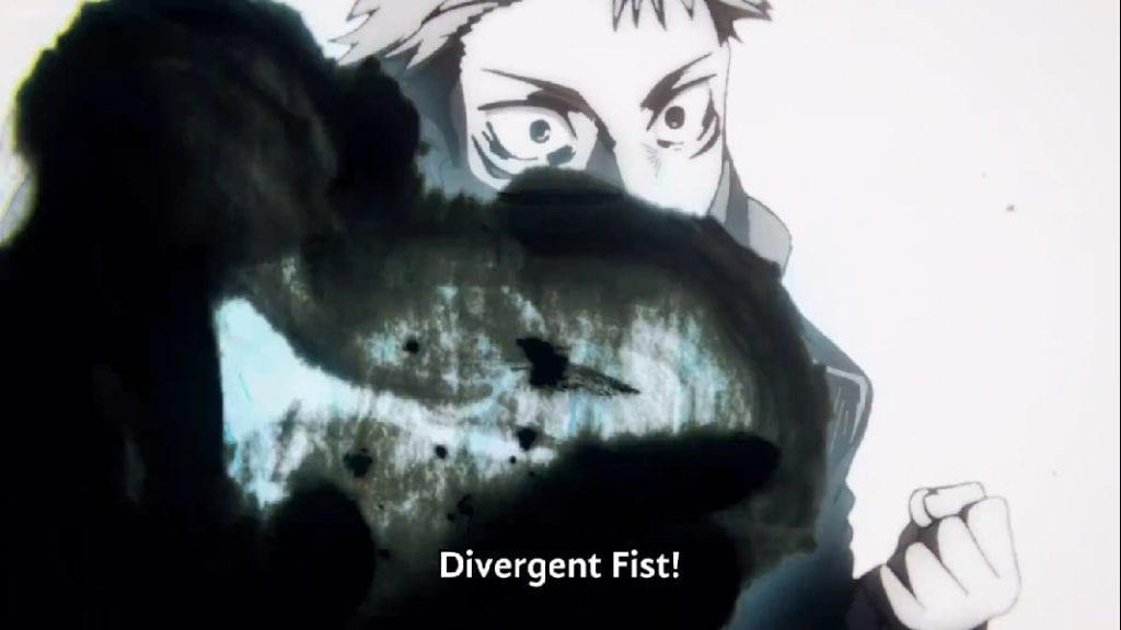 Itadori uses Divergent Fight against Mahito