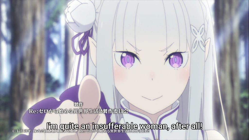 Emilia calls herself an insufferable woman