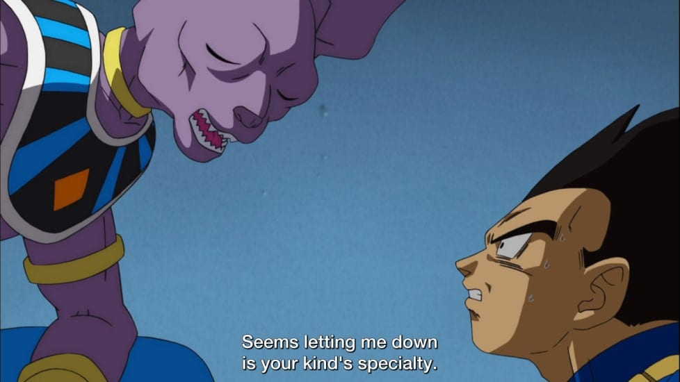 Beerus disappointed with Vegeta's answer on whether he knows of a SSG or not