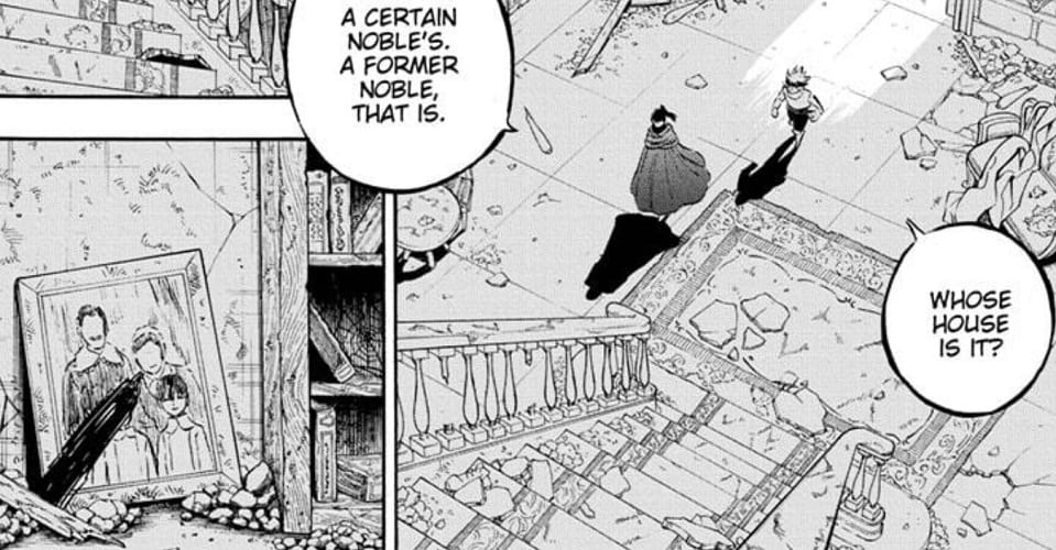 Asta and Nacht go to a former noble's house