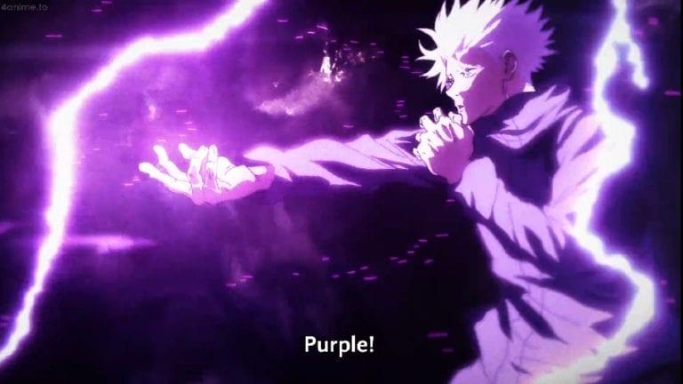 Gojo Satoru uses purple hollow