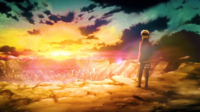 Boruto on the other side of Konoha in opening 8
