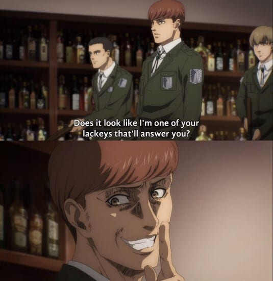 Floch doesn't care about Hange Commander position and orders her around