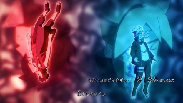 Kawaki and Boruto in the Boruto opening 8/ parallels between Boruto and Sasuke