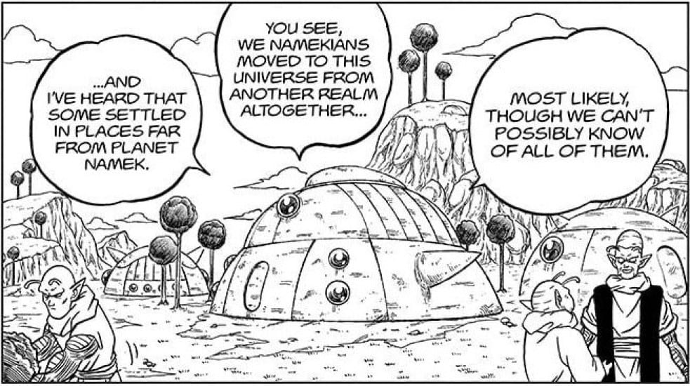 """Namekians moved to Universe 7 from another """"realm"""""""