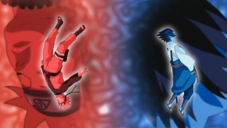 Naruto and Sasuke in bluebird naruto shippuden op 3
