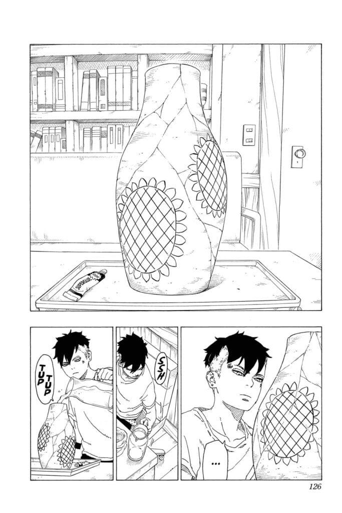 Kawaki fixes the vase
