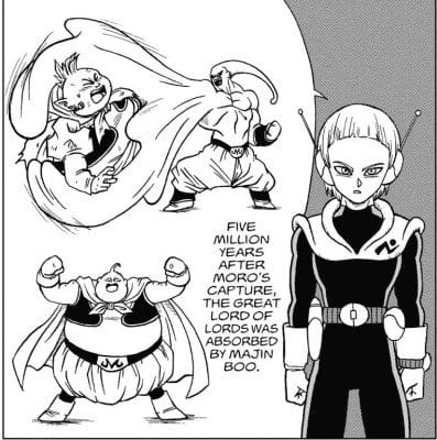 Grand Supreme Kai being absorbed by Majin Buu 5 million years ago