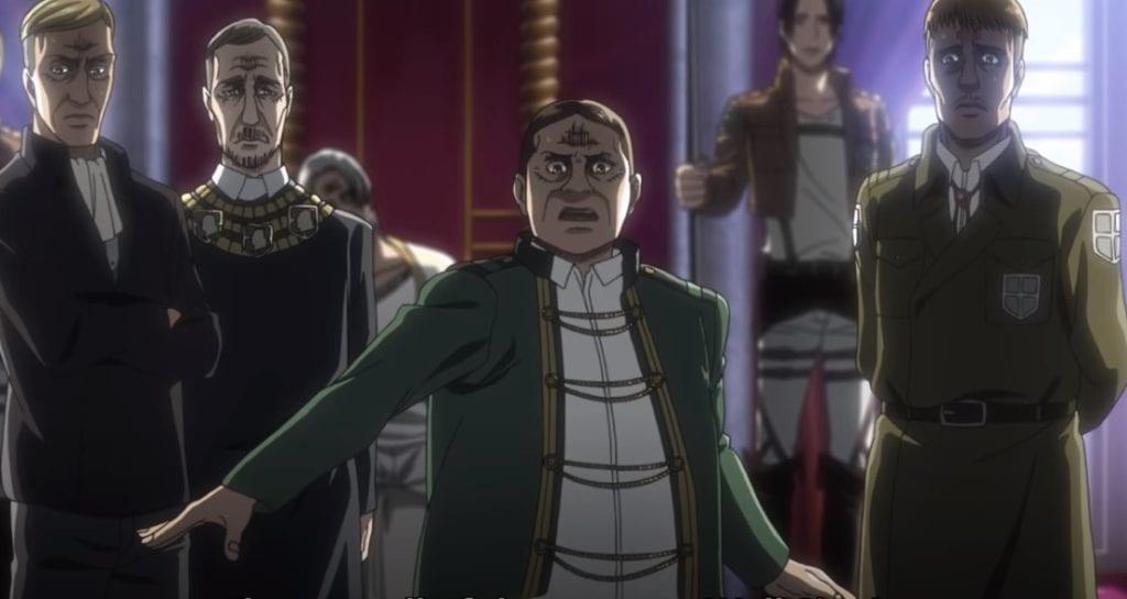 The nobles of Paradis. Attack on Titan Season 3, Part 1