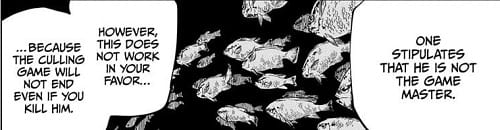Annihilation Migration depicted by fishes in Chapter 145