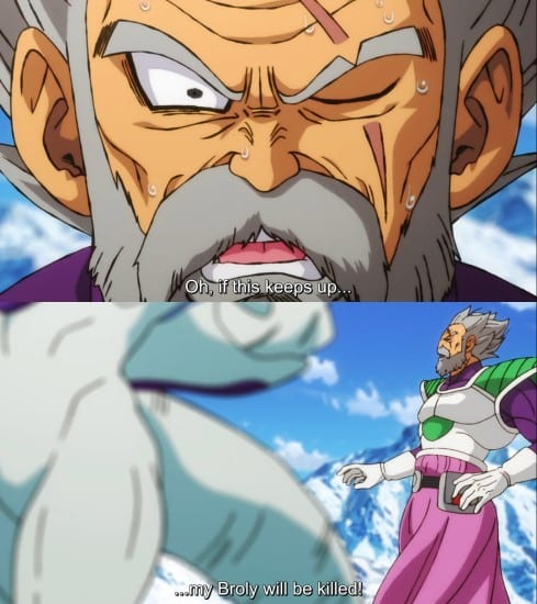 Paragus says Broly's own explosive power could lead to his own doom