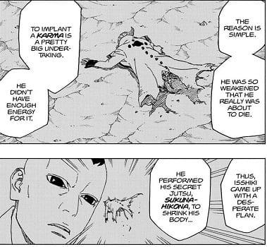 Isshiki defeated by Kaguya