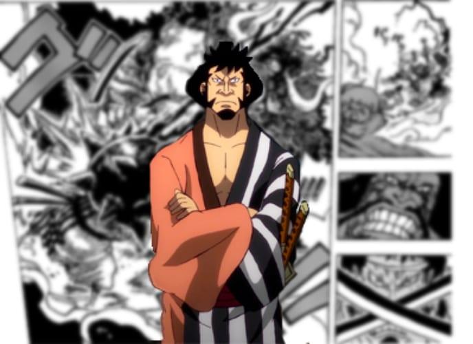 Kinemon smashed by Kaido's Conqueror's haki coated Kanabo