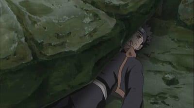 Obito crushed under boulder