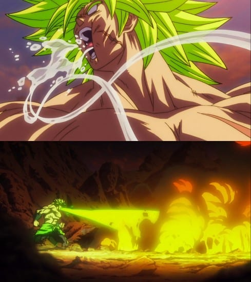 Broly's high endurance abilities