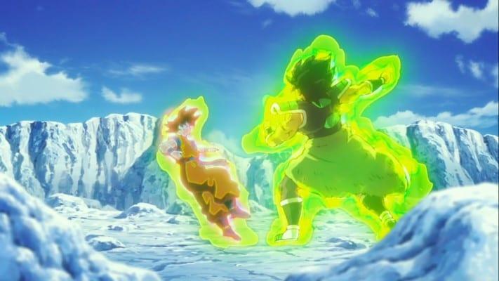 Broly using God Bind right back at Goku