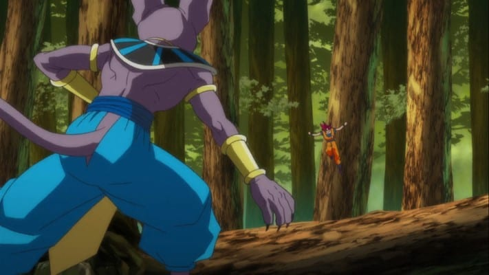 Forest setting in Battle of Gods