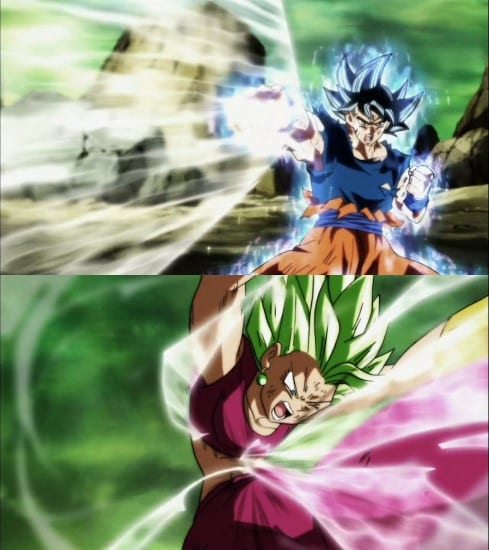 Goku's Kiai technique