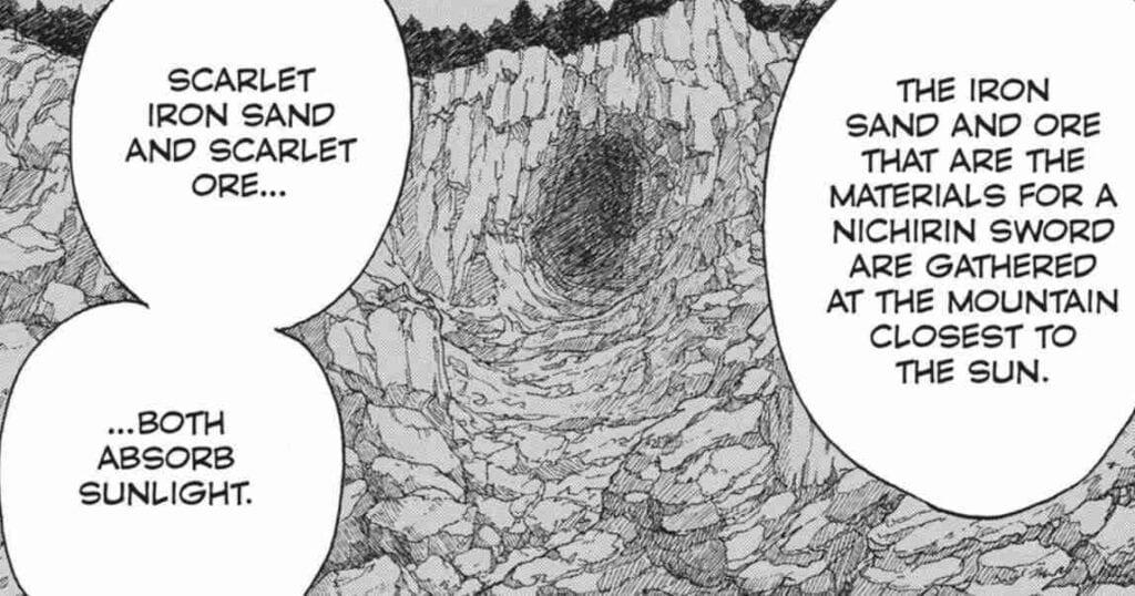 Haganezuka tells Tanjiro about the ore used to make a nichirin blade. Demon Slayer Manga Chapter 9