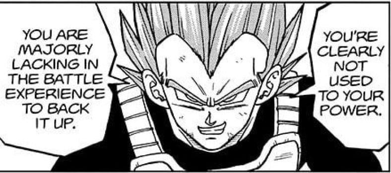 Dragon Ball Super Chapter 74 Breakdown: Vegeta telling Granolah that he lacks combat experience