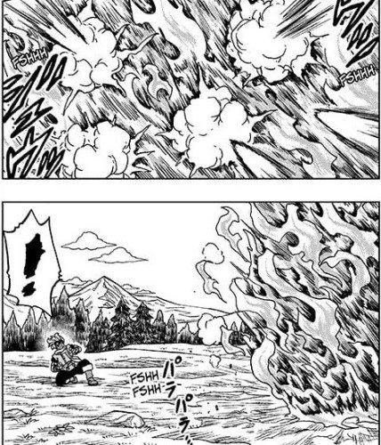 Vegeta's swirling energy of destruction canceled out Granolah's Ki blasts