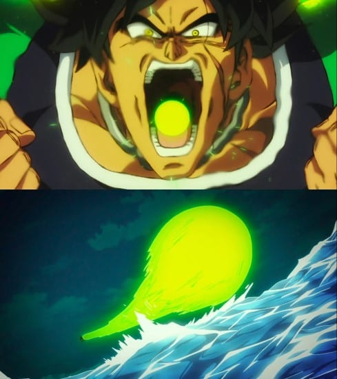 Broly's powers and abilities - Gigantic Breath technique