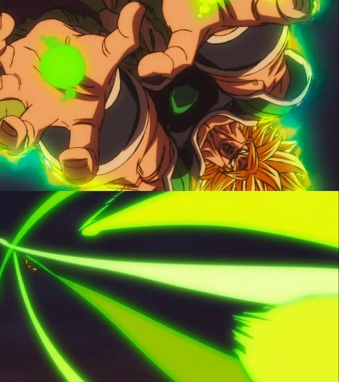 Broly's powers and abilities - Gigantic Cluster technique (from his palms)