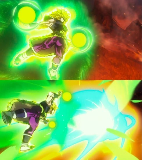Broly's powers and abilities - Double Eraser Cannon technique