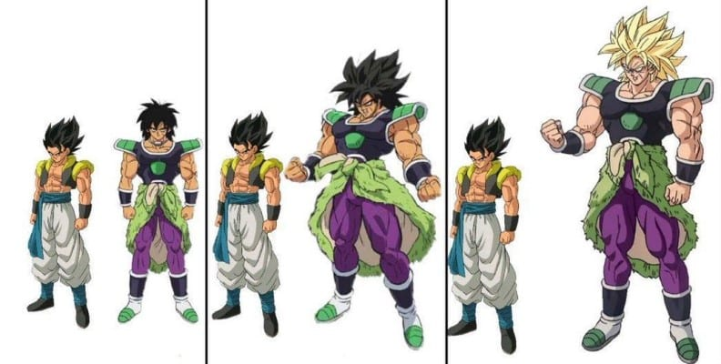 Broly's powers and abilities - Increase in Body size