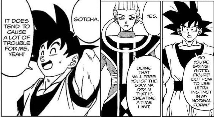 Goku's stamina problem is a long term issue for him