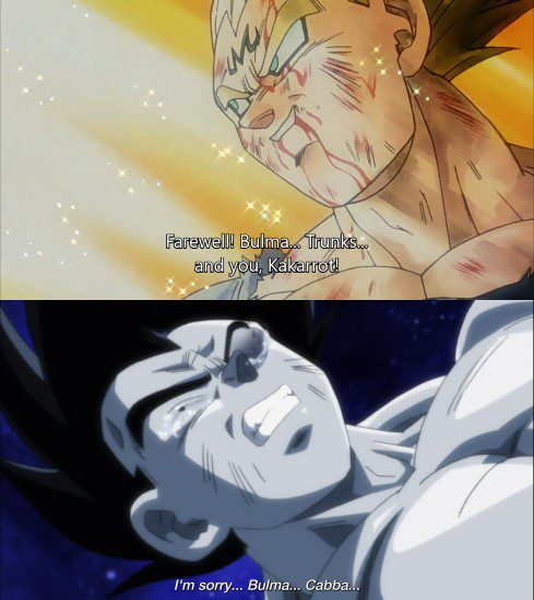 Vegeta fighting for his loved ones