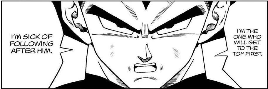 Vegeta refuses to follow behind Goku
