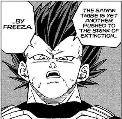 Vegeta saddened by the destruction of planet Vegeta and his race