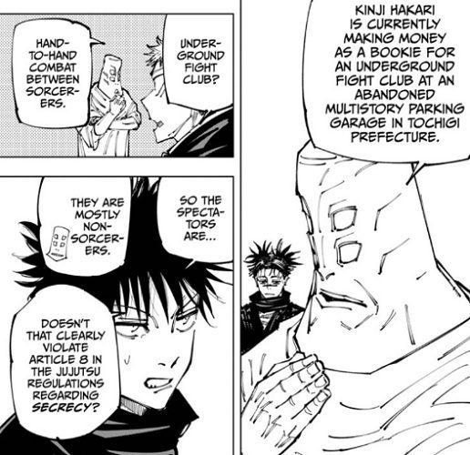 Tengen tells Megumi about Hakari in JJK chapter 153