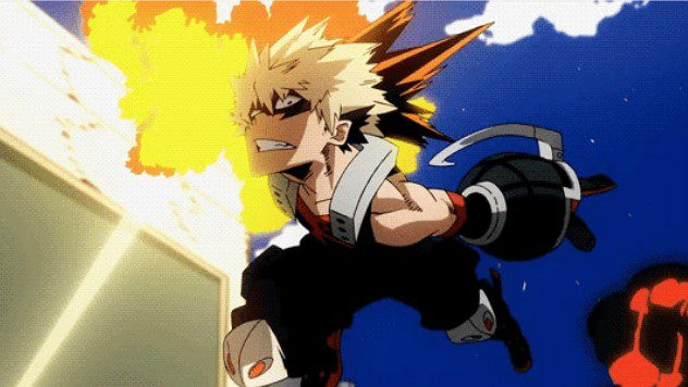 Bakugo Katsuki's explosion quirk that allows him to use his sweat to make explosions.