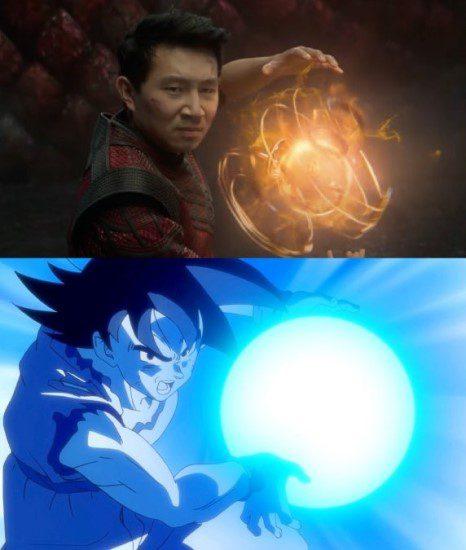MCU Canonizes Dragon Ball In Shang-Chi: Shang-Chi's fireball is similar to Goku's Kamehameha